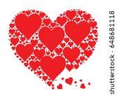 amazing vectorized hearts shape.   Shutterstock .eps vector #648681118