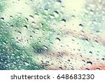 Small photo of Blurred of Drops on glass.spiritless
