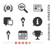 first place award cup icons.... | Shutterstock .eps vector #648683356