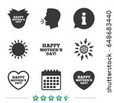 happy mothers's day icons. mom... | Shutterstock .eps vector #648683440