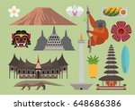 indonesia illustration  vector  ... | Shutterstock .eps vector #648686386