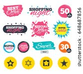 sale shopping banners. special... | Shutterstock .eps vector #648687856