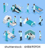 isometric doctors and patients... | Shutterstock .eps vector #648690934