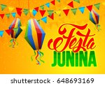 festa junina brazil holiday... | Shutterstock .eps vector #648693169