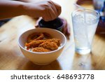 japanese food fried shrimp  | Shutterstock . vector #648693778
