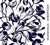 vector floral watercolor... | Shutterstock .eps vector #648694264