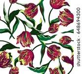 vector floral watercolor... | Shutterstock .eps vector #648694300