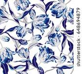 vector floral watercolor... | Shutterstock .eps vector #648694879