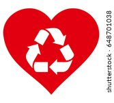 love recycle flat icon. vector...   Shutterstock .eps vector #648701038