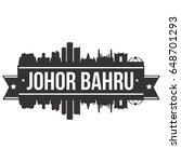 johor bahru skyline silhouette...   Shutterstock .eps vector #648701293