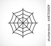 spider web vector pictogram | Shutterstock .eps vector #648703009