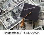 scholarship mini graduation cap ... | Shutterstock . vector #648703924