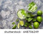 mojito traditional cuban... | Shutterstock . vector #648706249