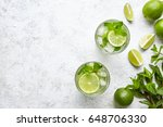 mojito cocktail alcohol bar... | Shutterstock . vector #648706330
