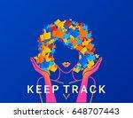 keep track concept illustration ... | Shutterstock .eps vector #648707443