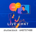 live chat concept vector... | Shutterstock .eps vector #648707488