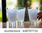 drinking water  cold water  | Shutterstock . vector #648707710