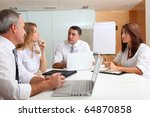business people meeting around... | Shutterstock . vector #64870858