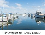 boats and luxury yachts parked... | Shutterstock . vector #648712030