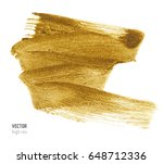 gold metallic brush stroke.... | Shutterstock .eps vector #648712336