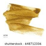 gold metallic brush stroke.... | Shutterstock .eps vector #648712336