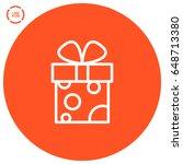 gift box line vector icon   Shutterstock .eps vector #648713380