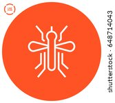mosquito insect line vector icon | Shutterstock .eps vector #648714043