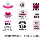 happy fathers day.big set... | Shutterstock .eps vector #648714688
