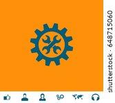 repair icon illustration. blue... | Shutterstock . vector #648715060