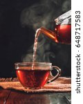 process brewing tea tea... | Shutterstock . vector #648717583