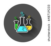 chemical test tube pictogram... | Shutterstock .eps vector #648719233