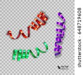 set of colorful ribbons for... | Shutterstock .eps vector #648719608