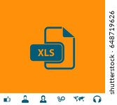Xls Icon Illustration. Blue...