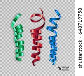 set of colorful ribbons for... | Shutterstock .eps vector #648719758