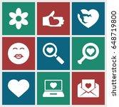 valentine icons set. set of 9...   Shutterstock .eps vector #648719800