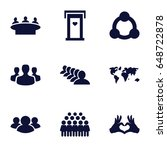 community icons set. set of 9... | Shutterstock .eps vector #648722878