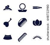 beauty icons set. set of 9...   Shutterstock .eps vector #648722980