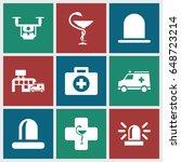 ambulance icons set. set of 9...   Shutterstock .eps vector #648723214