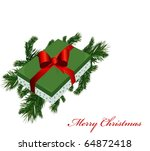 christmas banner with pine... | Shutterstock .eps vector #64872418