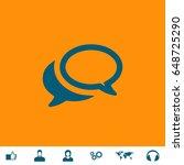 chat icon illustration. blue...