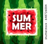 summer. watermelon. cartoon... | Shutterstock .eps vector #648726004