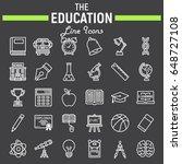 education line icon set  school ... | Shutterstock .eps vector #648727108
