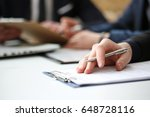hand of businessman in suit... | Shutterstock . vector #648728116