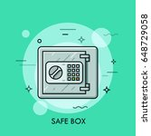 metallic safe box with closed... | Shutterstock .eps vector #648729058