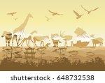 double exposure  wild animals | Shutterstock .eps vector #648732538