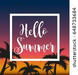 hello summer template for... | Shutterstock .eps vector #648733684