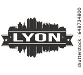 lyon skyline silhouette design... | Shutterstock .eps vector #648734800