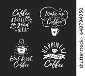 hand drawn coffee related... | Shutterstock .eps vector #648734950