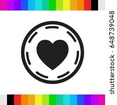 heart in circle icon stock...   Shutterstock .eps vector #648739048