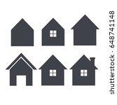 house icon set real estate logo ...   Shutterstock .eps vector #648741148
